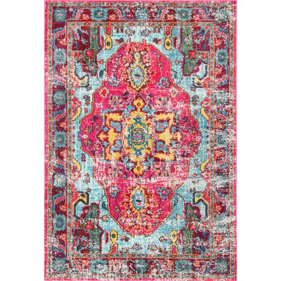 Aliyah Pink Area Rug Rug Size: Rectangle 53 x 77