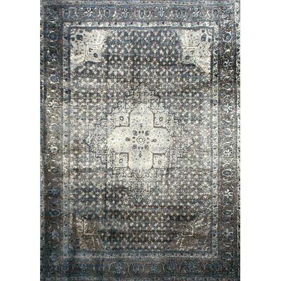 Pascoe Blue/Grey & Silver Area Rug Rug Size: Rectangle 53 x 78