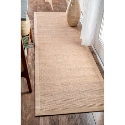 Alhambra Contemporary Sand Area Rug Rug Size: Square 6