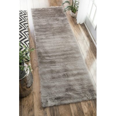 Empire Gray Area Rug Rug Size: Runner 26 x 8