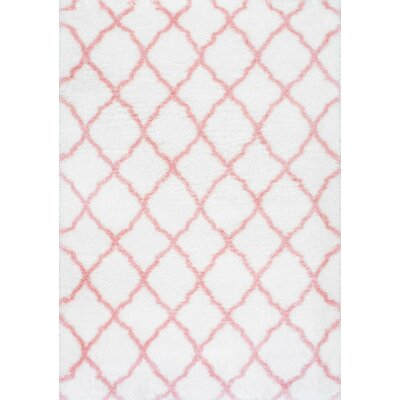 Kellie Hand-Tufted Baby Pink Area Rug Rug Size: Rectangle 67 x 9