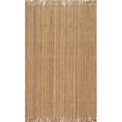 Elana Hand-Woven Brown Area Rug Rug Size: Rectangle 76 x 96