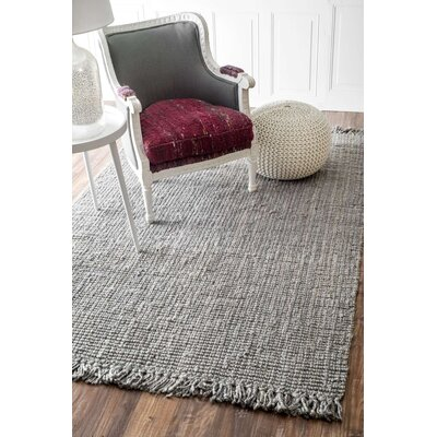 Peraza Hand-Tufted White Area Rug Rug Size: 9 x 12