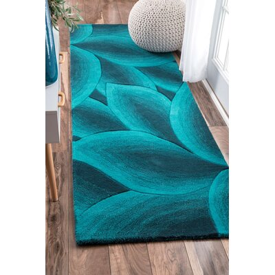 Modella Teal Fall Autumn Rug Rug Size: Runner 26 x 8