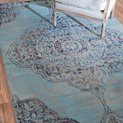 Velu Armanda Blue Vintage Area Rug Rug Size: 52 x 8