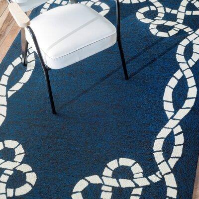 Delphine Blue Indoor/Outdoor Area Rug Rug Size: 5 x 8