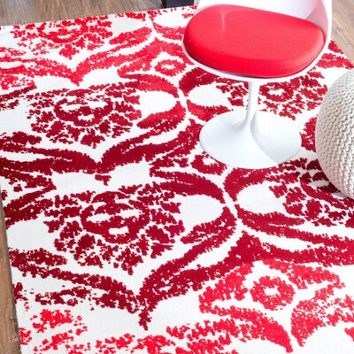 Vanesa Red Area Rug Rug Size: 5 x 8