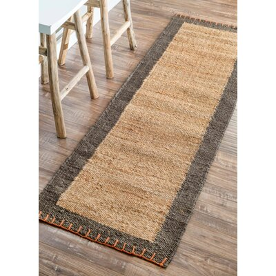Natura Stallion Natural/Grey Area Rug Rug Size: Runner 26 x 8