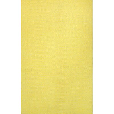 Bivouc Hand-Woven Ming Yellow Area Rug Rug Size: 5 x 8