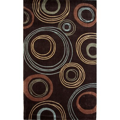 Barcelona Hand-Tufted Brown Area Rug Rug Size: Rectangle 5 x 8