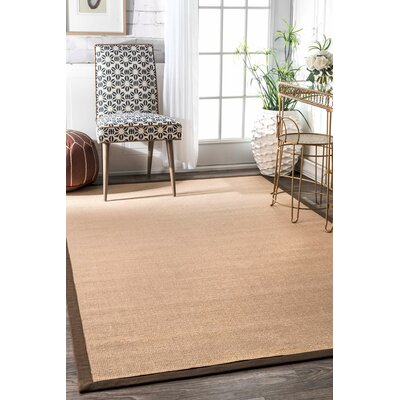 Natura Brown Area Rug Rug Size: 9 x 12