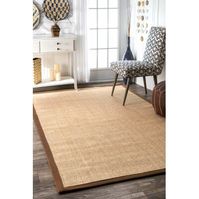 Natura Brown Area Rug Rug Size: 4 x 6