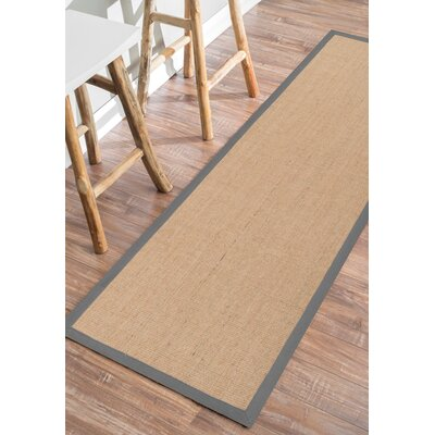 Algonquin Herringbone Brown Area Rug Rug Size: Runner 26 x 8