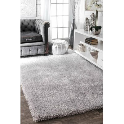 Cine Hand-Tufted Silver Area Rug Rug Size: Rectangle 8 x 10