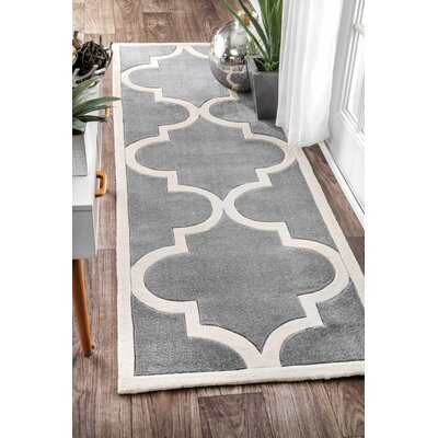 Sepviva Hand-Tufted Slate Area Rug Rug Size: Rectangle 9 x 12