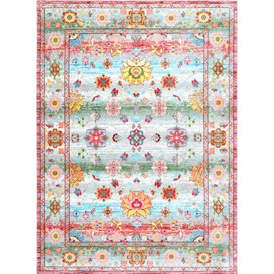 Ari Pink Area Rug Rug Size: Rectangle 9' x 12'