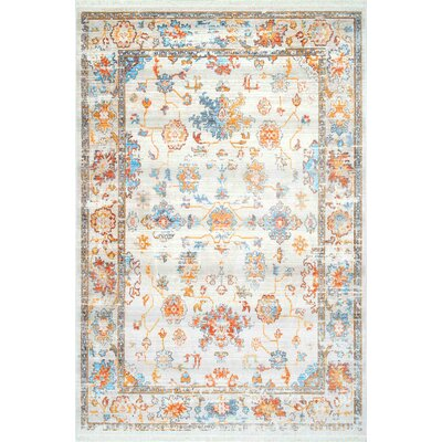 Vinehill Ivory Area Rug Rug Size: Rectangle 8 x 10