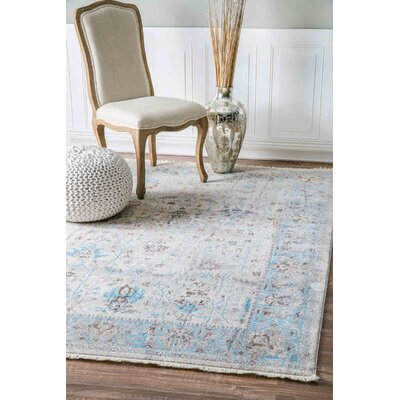 Zetta Light Blue Area Rug Rug Size: Rectangle 8 x 10