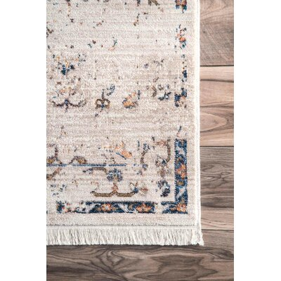 Artvin Ivory Area Rug Rug Size: Rectangle 9 x 12