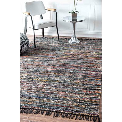 Sergio Hand-Woven Blue/Orange Area Rug Rug Size: Rectangle 5 x 8