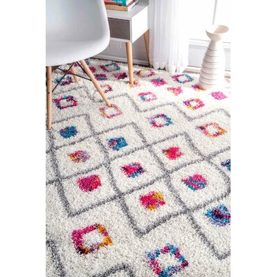 Gwendolyn Pink Area Rug Rug Size: Rectangle 33 x 5