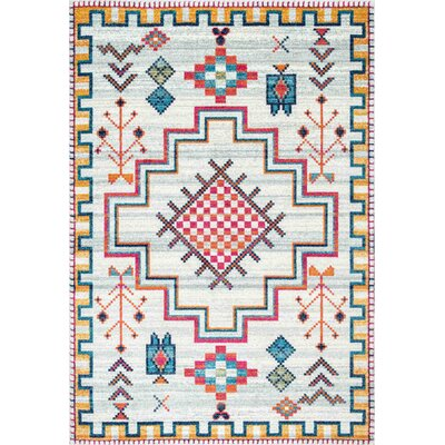Celestine Silver Area Rug Rug Size: Rectangle 9 x 12