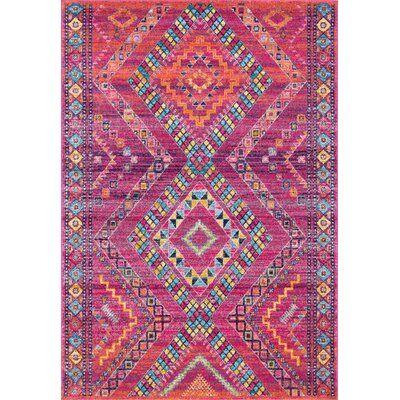 Celestyna Fuchsia Area Rug Rug Size: Rectangle 5 x 75