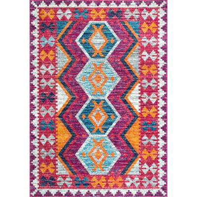 Celie Pink Area Rug Rug Size: Rectangle 5 x 75