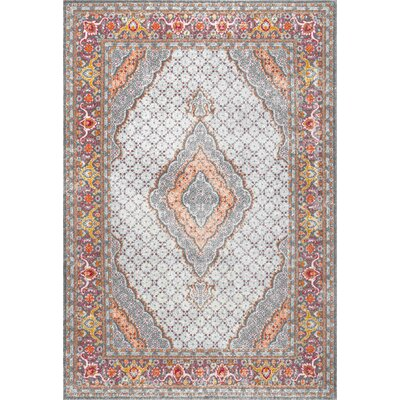 Cendrillon Orange Area Rug Rug Size: Rectangle 8 x 10