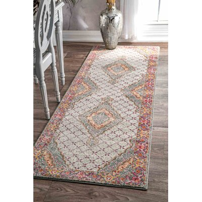Cendrillon Orange Area Rug Rug Size: Runner 28 x 8