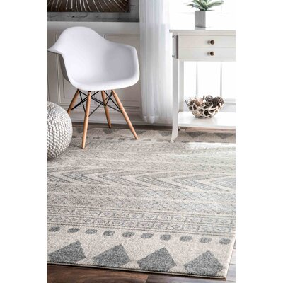 Berger Gray Area Rug Rug Size: 8 x 10