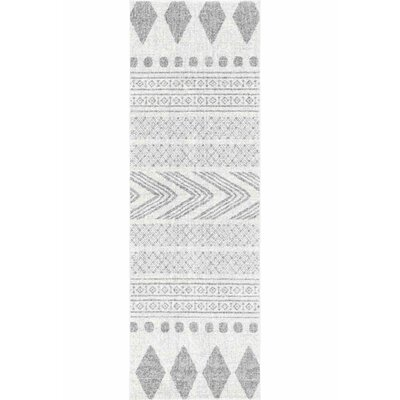 Berger Gray Area Rug Rug Size: Runner 28 x 8