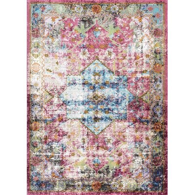 Cerise Burgundy Area Rug Rug Size: Rectangle 5 x 8