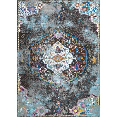 Bernard Dark Gray Area Rug Rug Size: Rectangle 7'10