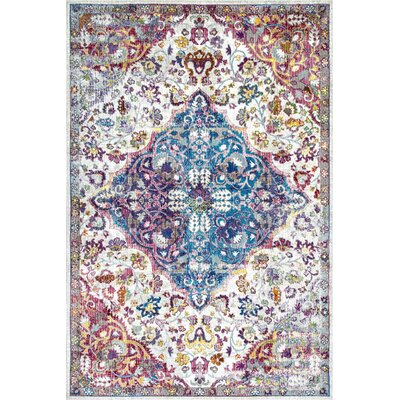 Blackburn Beige/Blue Area Rug Rug Size: Rectangle 4 x 6