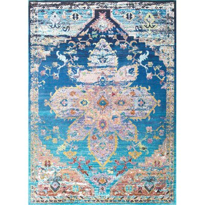Chane Blue Area Rug Rug Size: 710 x 96