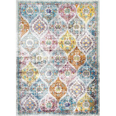 Chanler Beige/Orange Area Rug Rug Size: 4 x 6