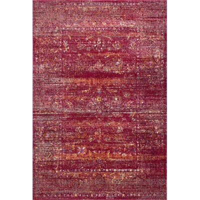 Blackwell Burgundy Area Rug Rug Size: Rectangle 4 x 6