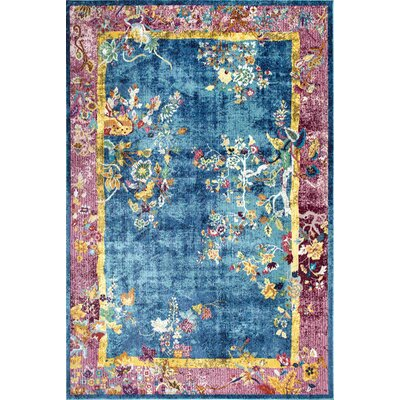 Bouziane Blue Area Rug Rug Size: Rectangle 5 x 8