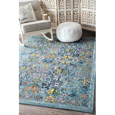 Channelle Light Blue Area Rug Rug Size: 5 x 8