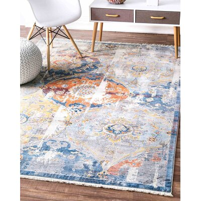 Arteaga Blue Area Rug Rug Size: Rectangle 9 x 12