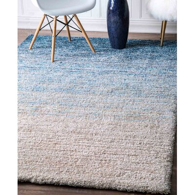 Tyson Hand-Tufted Blue Area Rug Rug Size: Rectangle 76 x 96