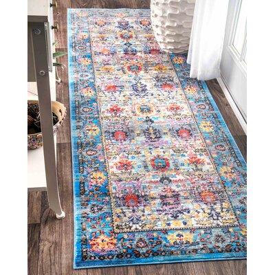 Arnots Blue Area Rug Rug Size: Runner 26 x 710