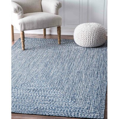 Caleigh Handmade Light Blue Area Rug Rug Size: Oval 7 6 x 9 6