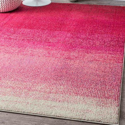 Angelina Pink Area Rug Rug Size: Rectangle 53 x 77