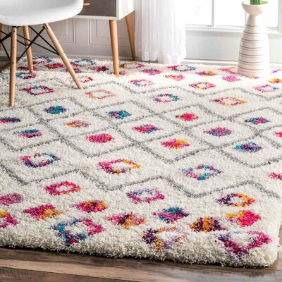 Gwendolyn Pink Area Rug Rug Size: Rectangle 4 x 6