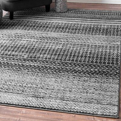 Patel Dark Gray Area Rug Rug Size: 8 x 10