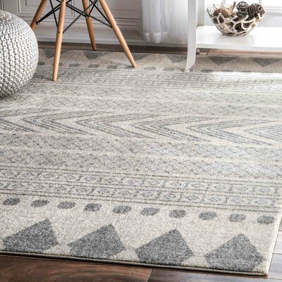 Berger Gray Area Rug Rug Size: Rectangle 5 x 75