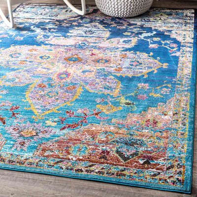 Chane Blue Area Rug Rug Size: Rectangle 5 x 8