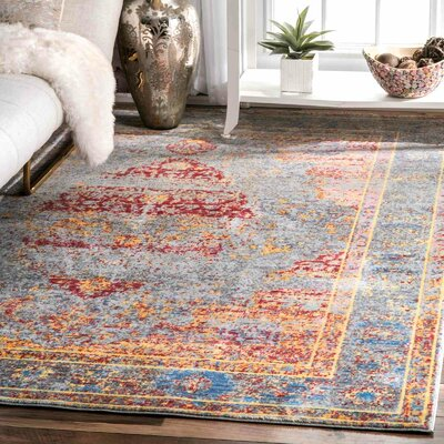 Arakaki Yellow Area Rug Rug Size: Rectangle 9 x 12